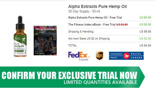 Alpha Extracts Pure Hemp Oil Canada price