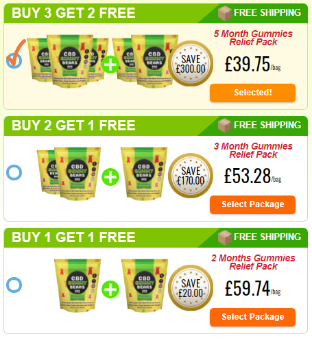 Green Gummy Bear CBD price in UK