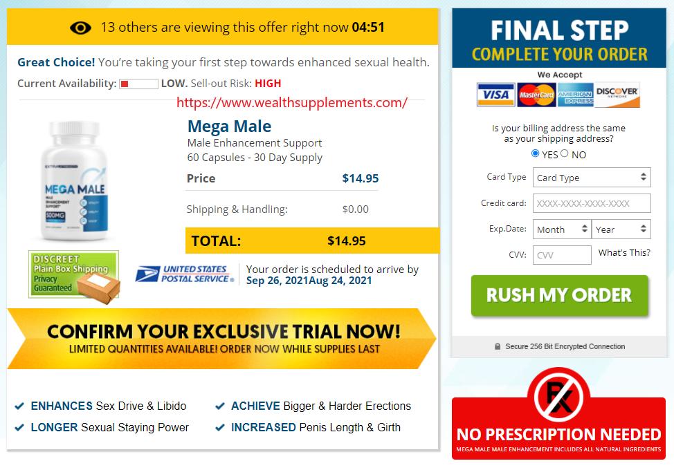 Mega Male Enhancement price