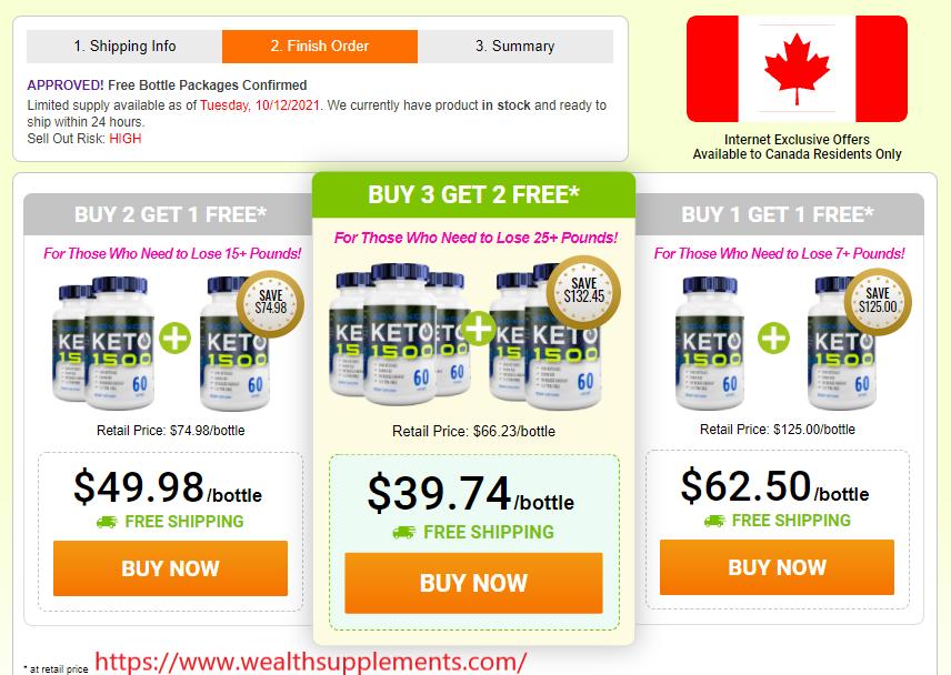 Keto Advanced Weight Loss Canada Price